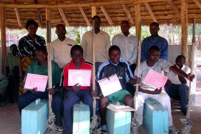 Certificates for the participants of the carpenter training