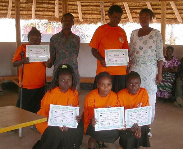 Certificates for the participants of the tailor training